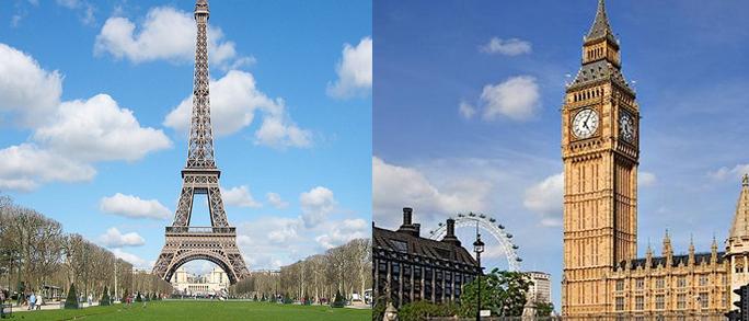 Paris e Londres – pacote terrestre 2017